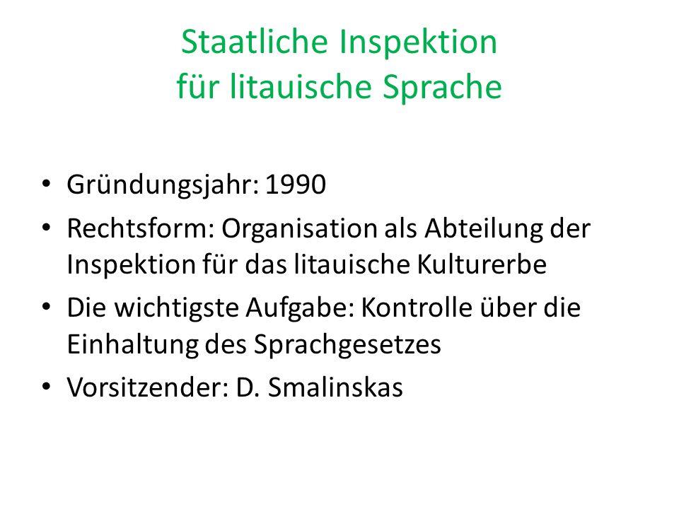 Staatliche Inspektion für litauische Sprache