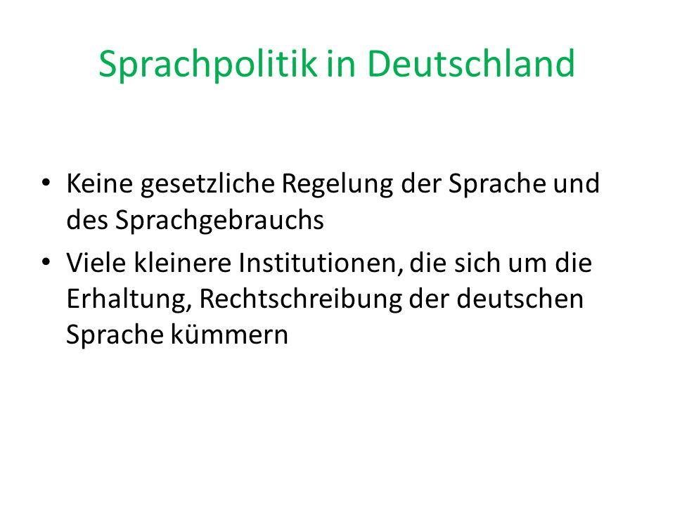 Sprachpolitik in Deutschland