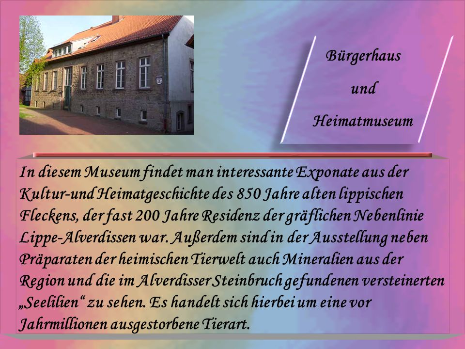 Bürgerhaus und. Heimatmuseum.