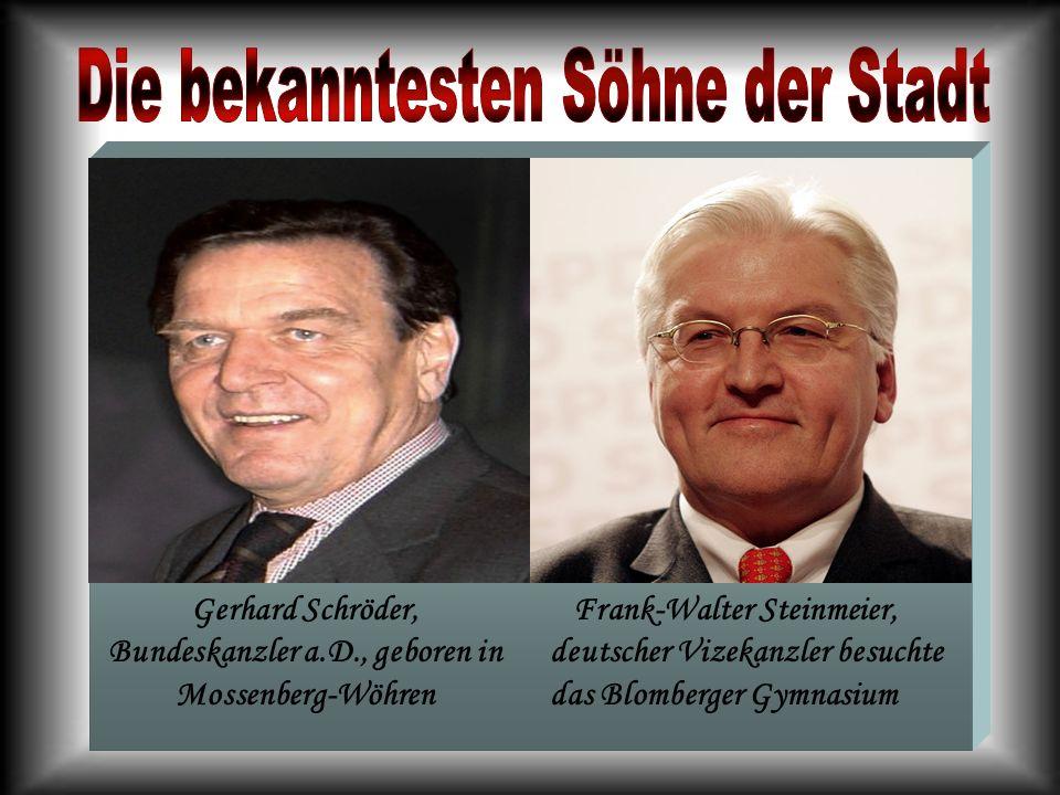 Gerhard Schröder, Bundeskanzler a.D., geboren in Mossenberg-Wöhren
