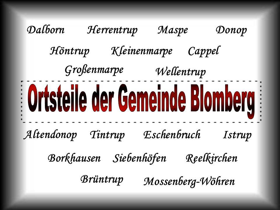 Ortsteile der Gemeinde Blomberg
