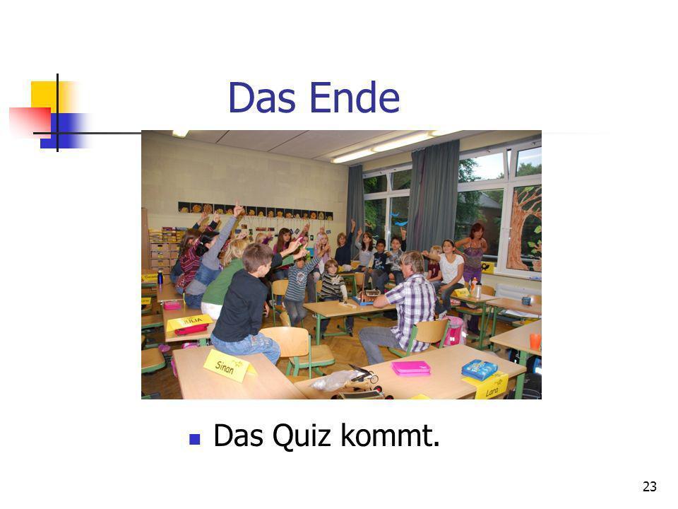 Das Ende Das Quiz kommt.