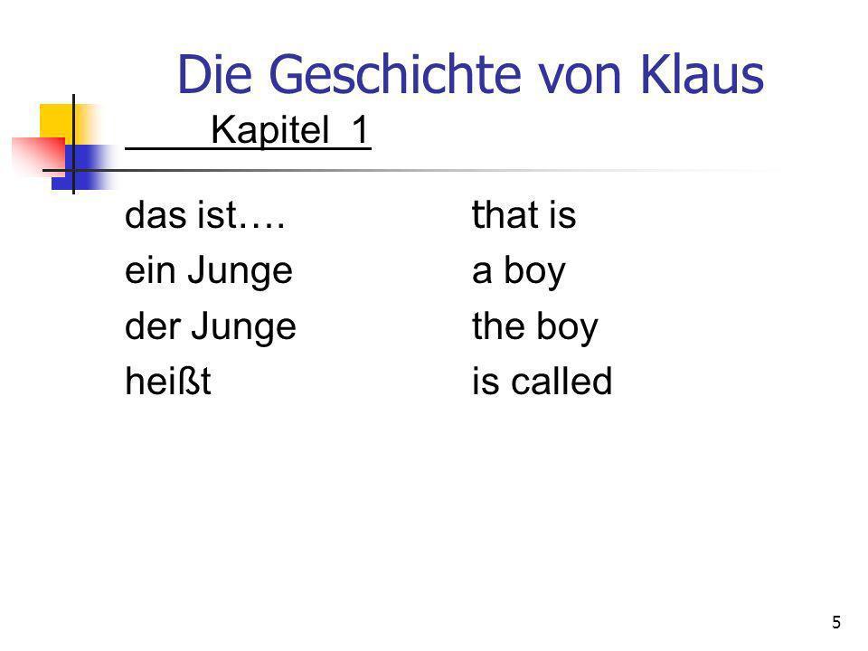 Die Geschichte von Klaus