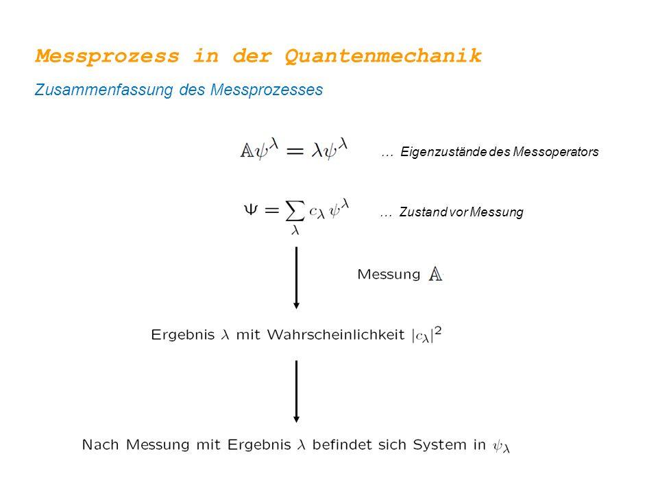 Messprozess in der Quantenmechanik