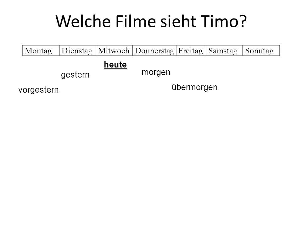 Welche Filme sieht Timo