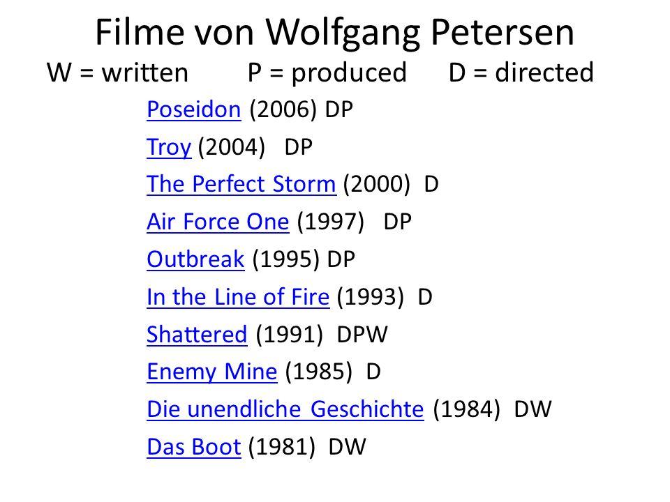 Filme von Wolfgang Petersen