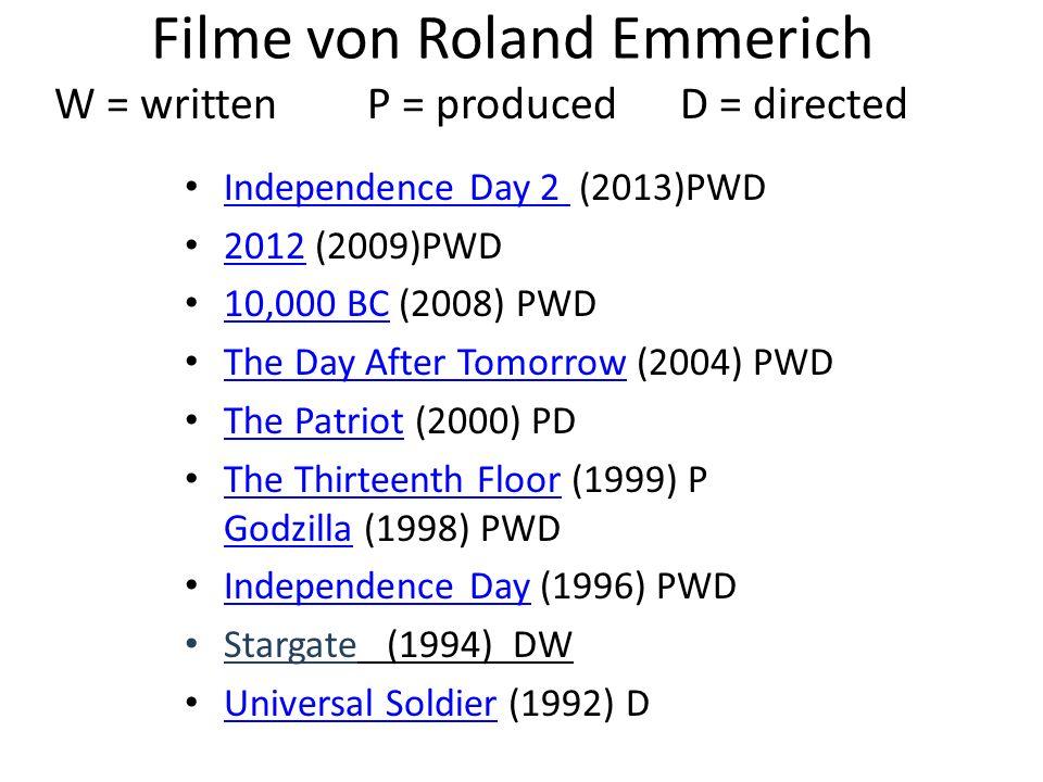 Filme von Roland Emmerich