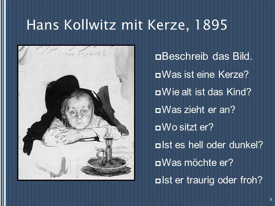 Hans Kollwitz mit Kerze, 1895
