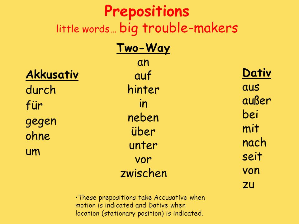 Prepositions little words… big trouble-makers