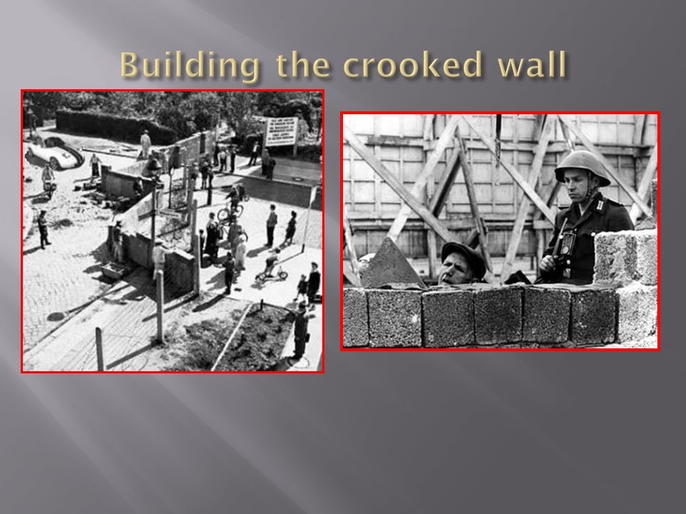 Building the crooked wall