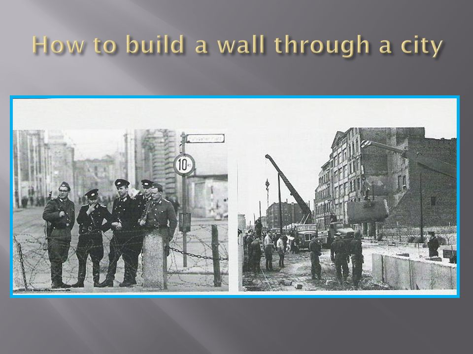 How to build a wall through a city