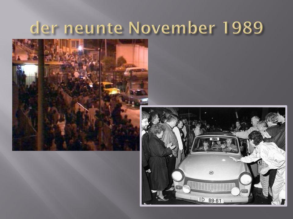 der neunte November 1989
