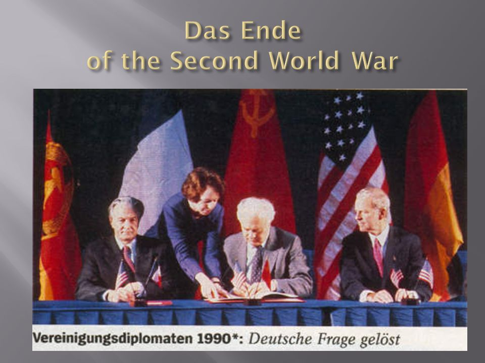 Das Ende of the Second World War