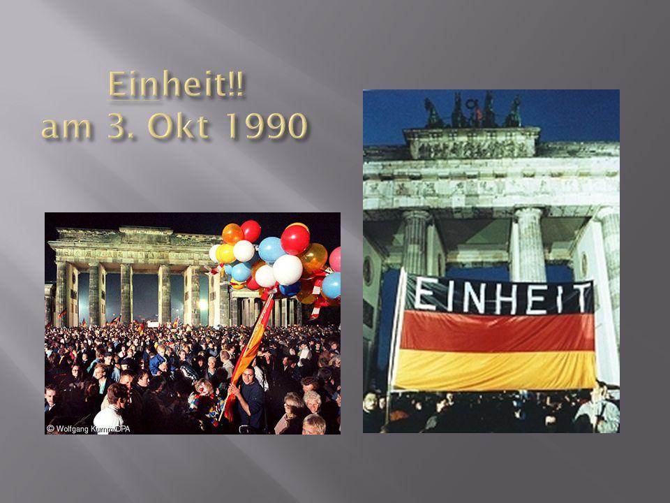 Einheit!! am 3. Okt 1990