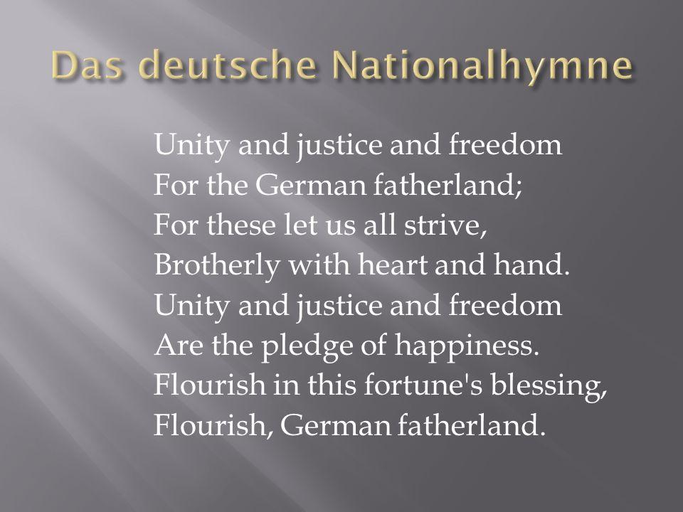Das deutsche Nationalhymne