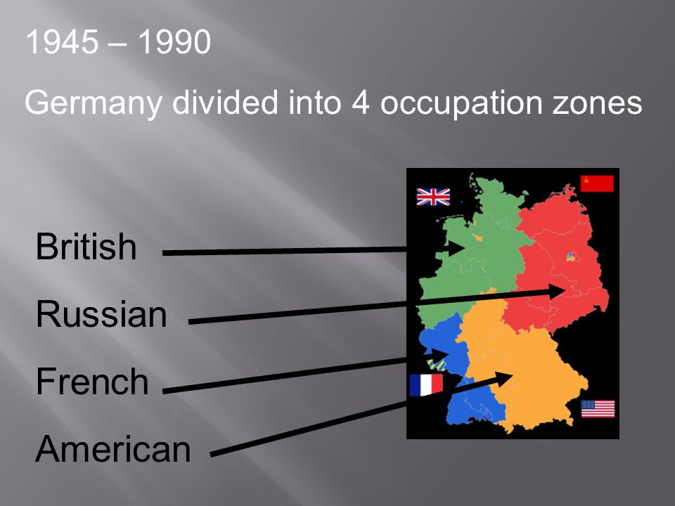 British Russian French American 1945 – 1990