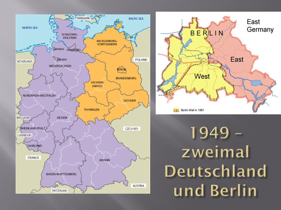 1949 – zweimal Deutschland und Berlin