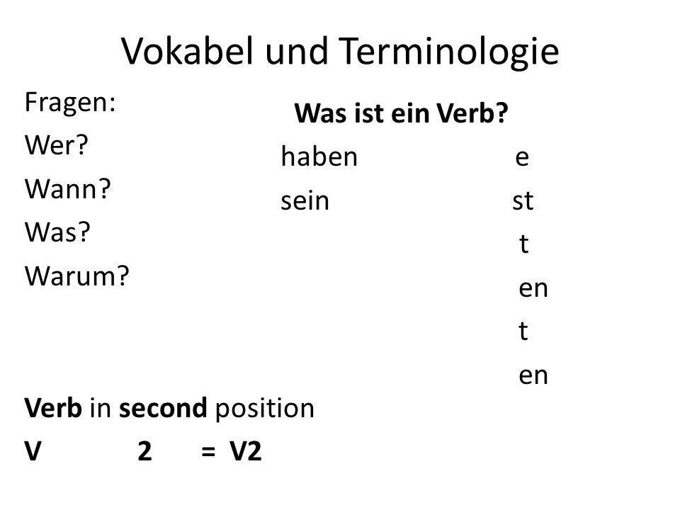 Vokabel und Terminologie