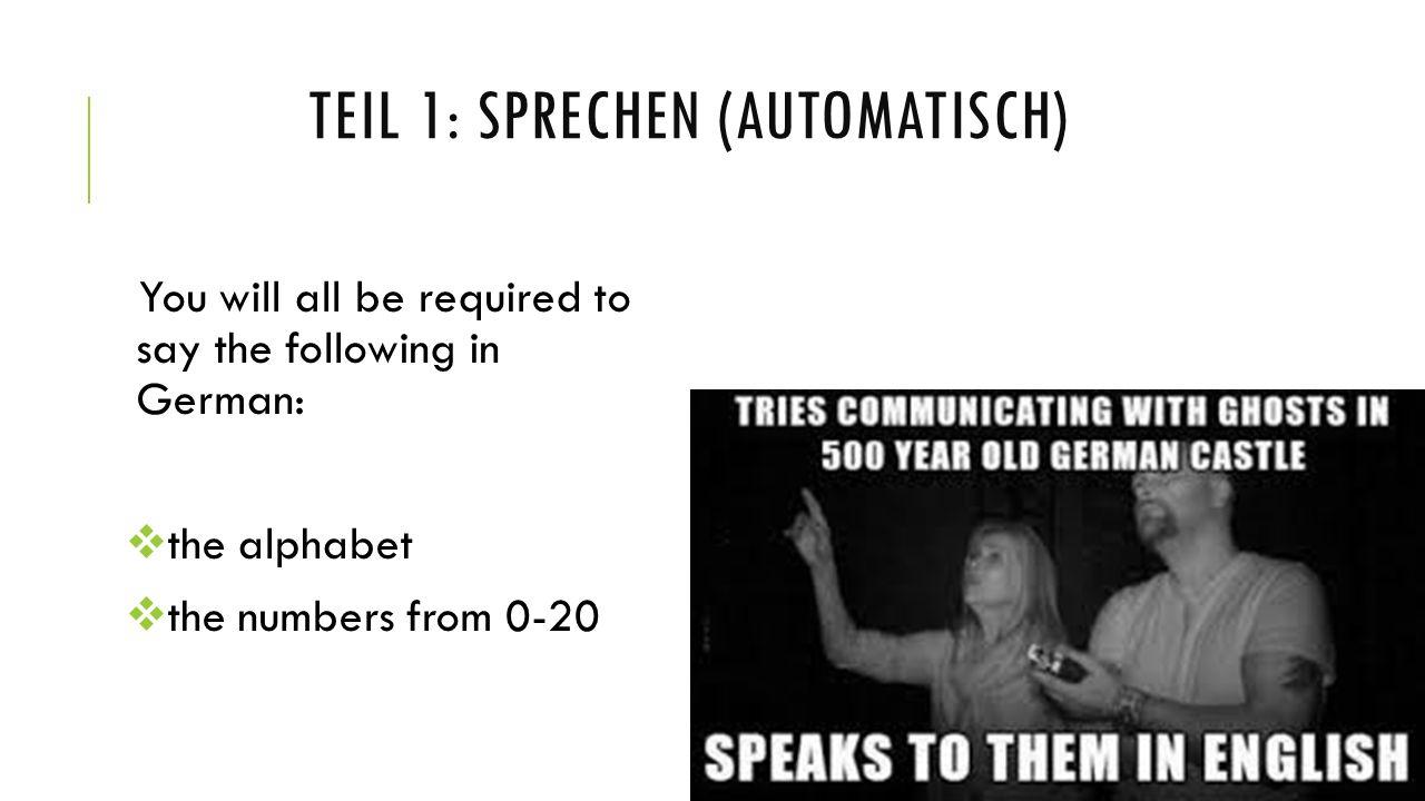 teil 1: sprechen (automatisch)