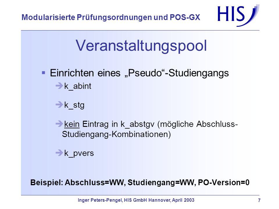 """VeranstaltungspoolEinrichten eines """"Pseudo -Studiengangs. k_abint. k_stg. kein Eintrag in k_abstgv (mögliche Abschluss-Studiengang-Kombinationen)"""