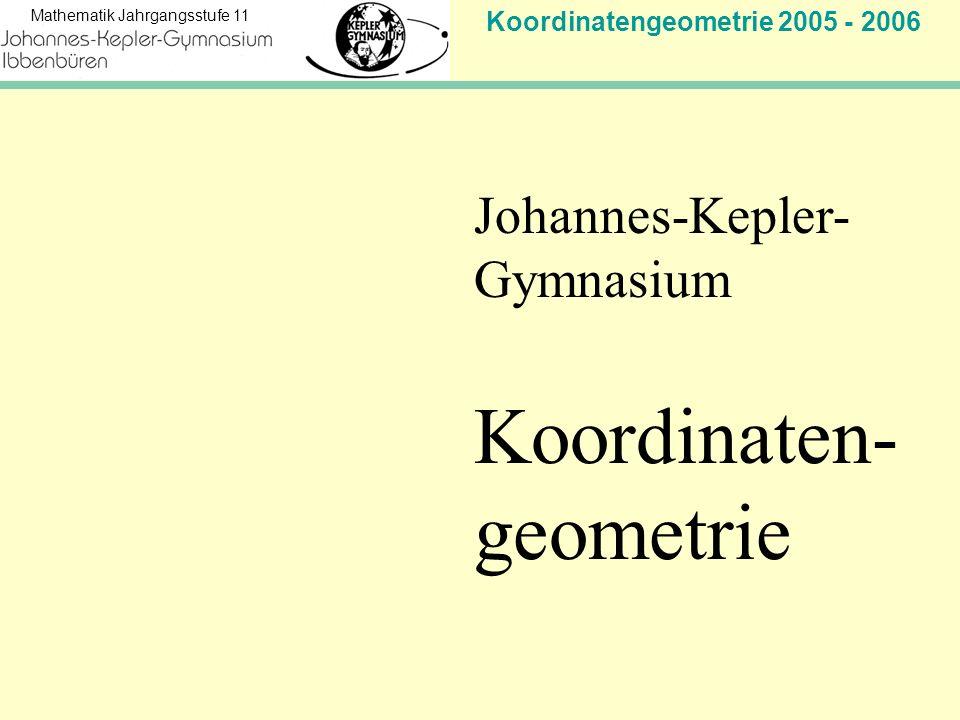 Koordinaten- geometrie