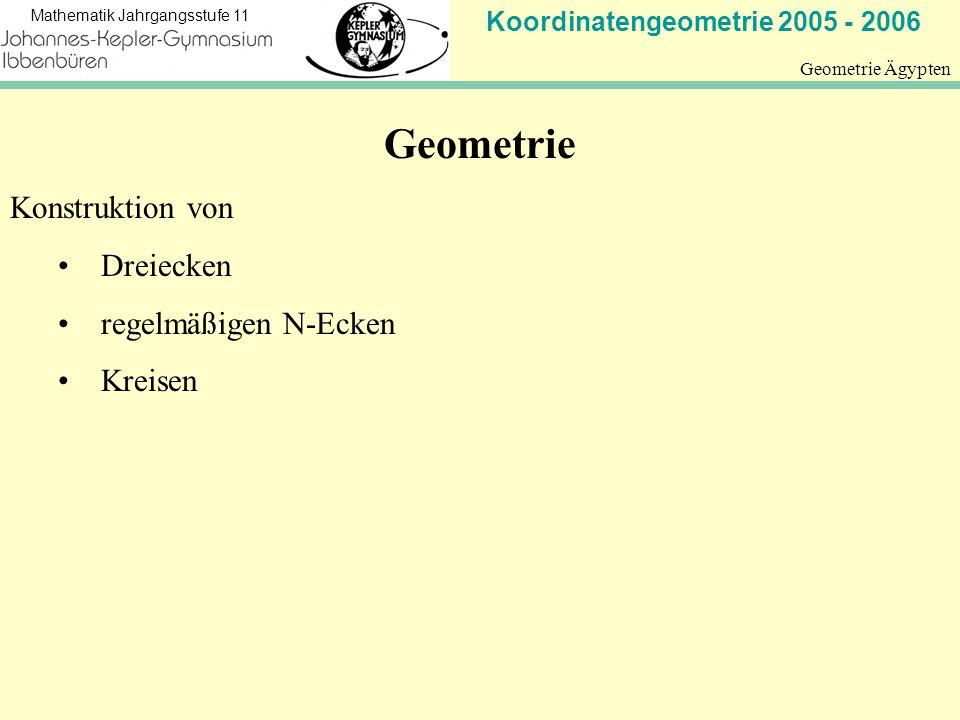 Geometrie Konstruktion von Dreiecken regelmäßigen N-Ecken Kreisen