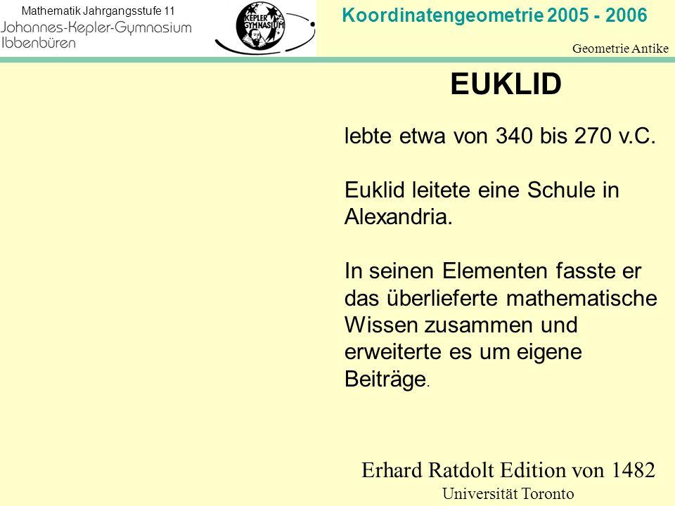 Erhard Ratdolt Edition von 1482 Universität Toronto