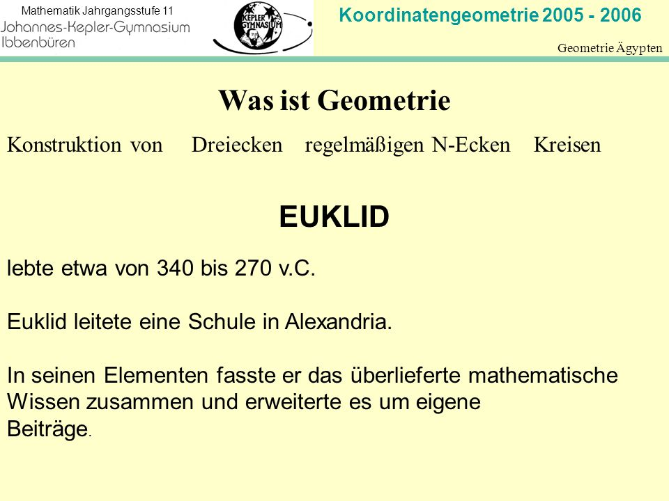 Was ist Geometrie EUKLID