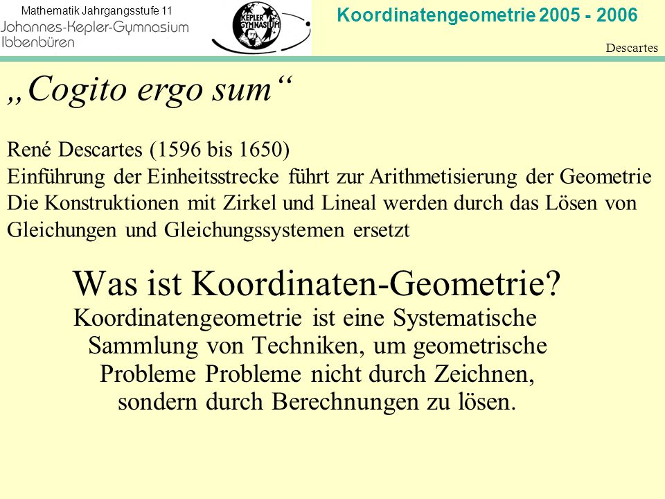 Was ist Koordinaten-Geometrie