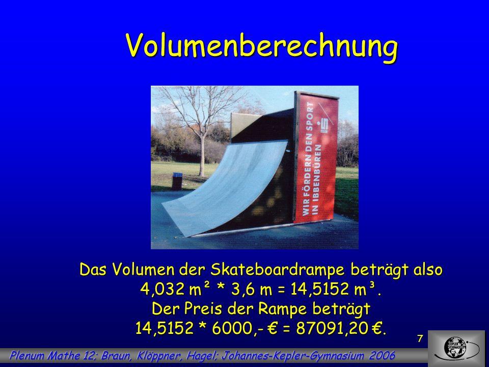 Volumenberechnung