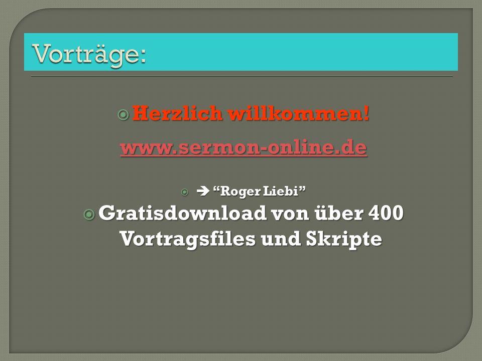 Gratisdownload von über 400 Vortragsfiles und Skripte