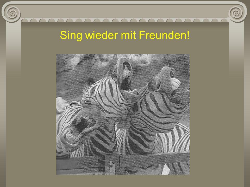Sing wieder mit Freunden!