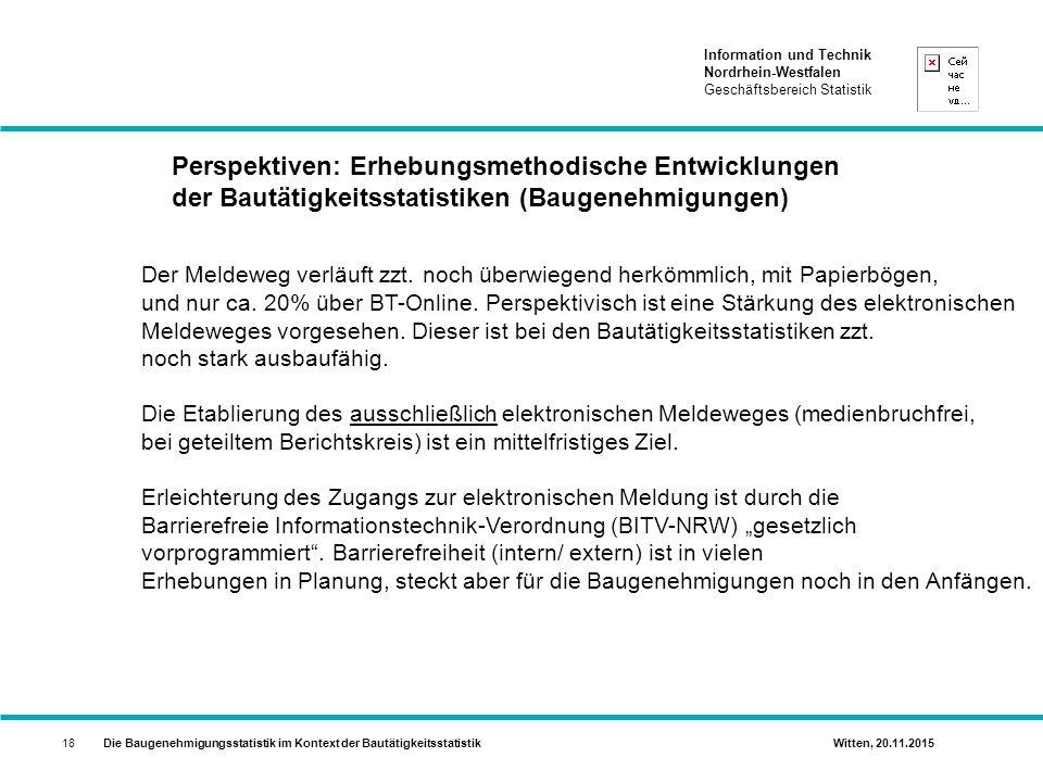 Perspektiven: Erhebungsmethodische Entwicklungen der Bautätigkeitsstatistiken (Baugenehmigungen)