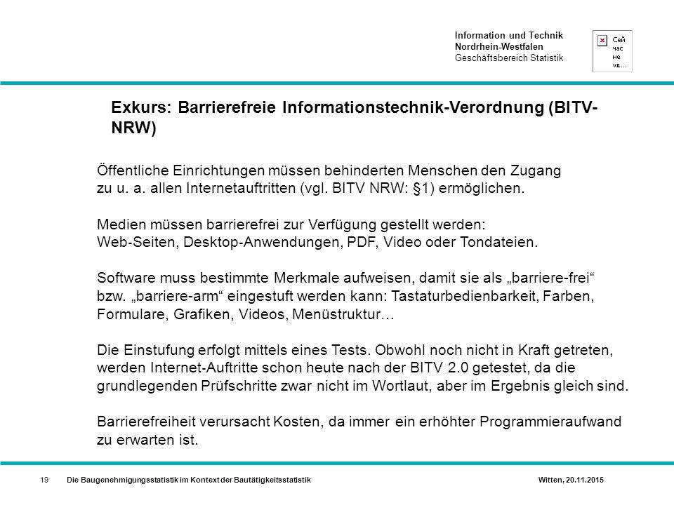 Exkurs: Barrierefreie Informationstechnik-Verordnung (BITV-NRW)