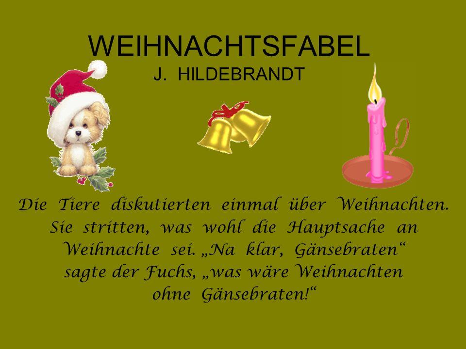 WEIHNACHTSFABEL J. HILDEBRANDT