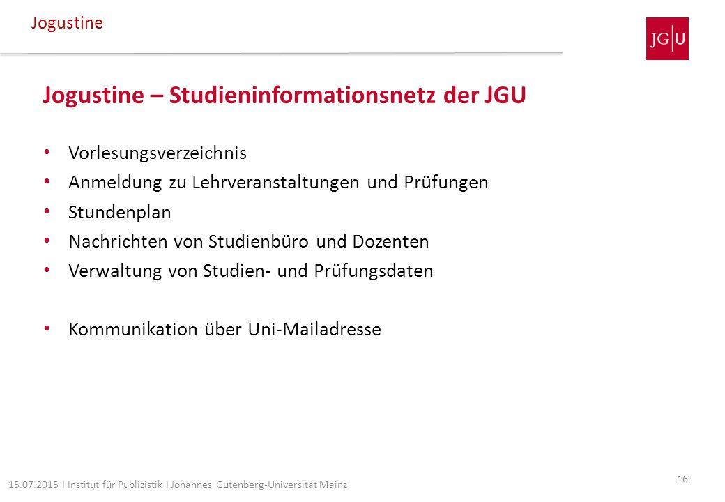 Jogustine – Studieninformationsnetz der JGU