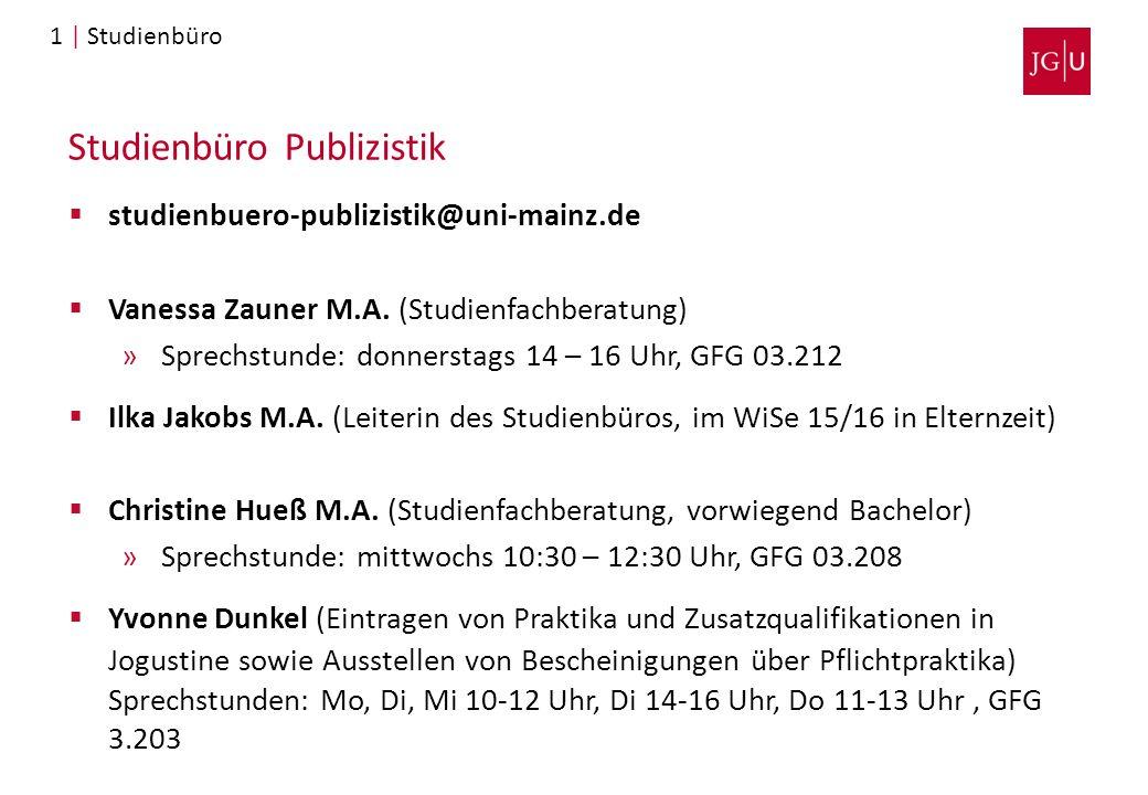 Studienbüro Publizistik