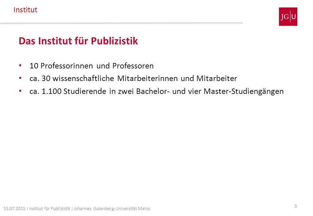 Das Institut für Publizistik