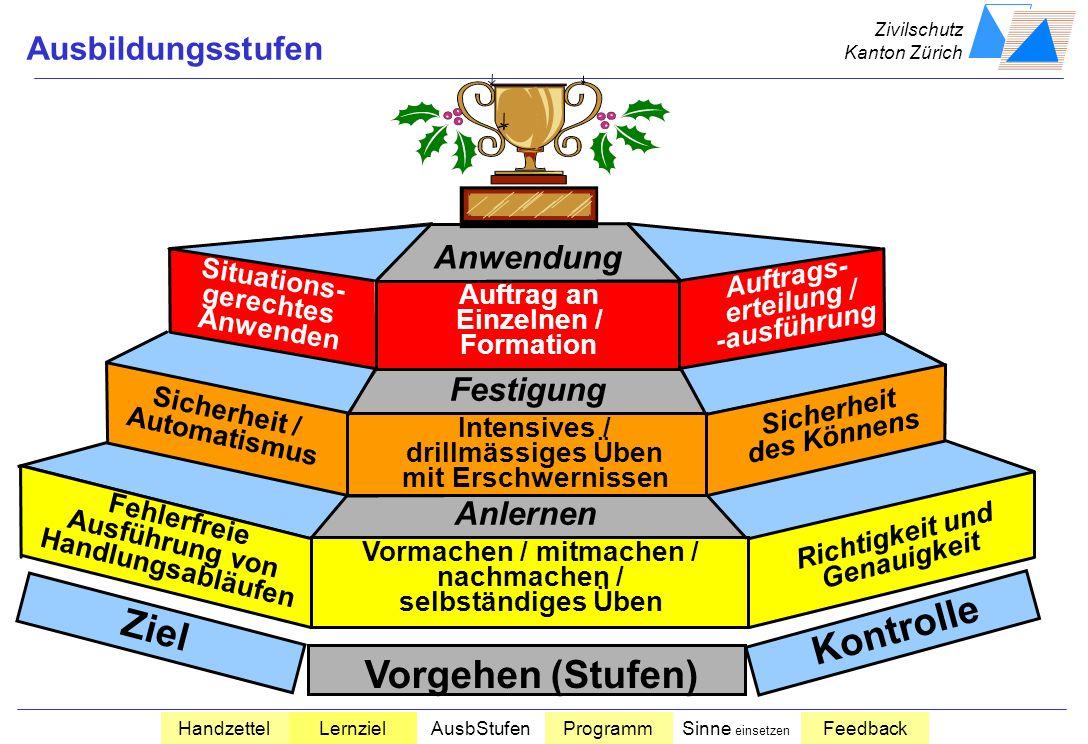 Ziel Kontrolle Vorgehen (Stufen)
