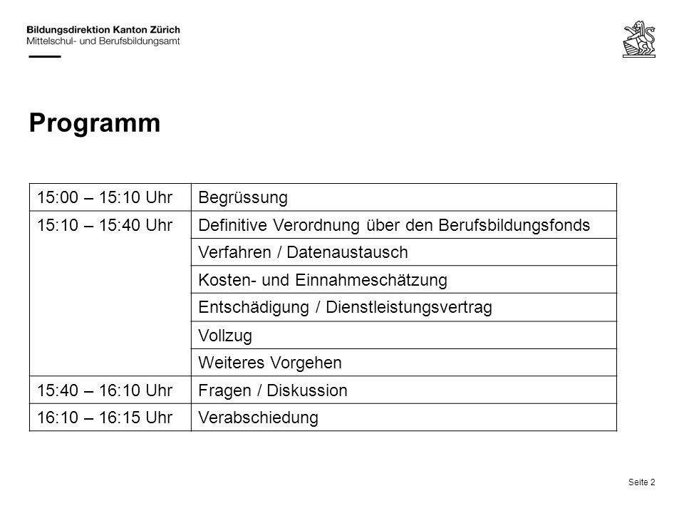 Programm 15:00 – 15:10 Uhr Begrüssung 15:10 – 15:40 Uhr