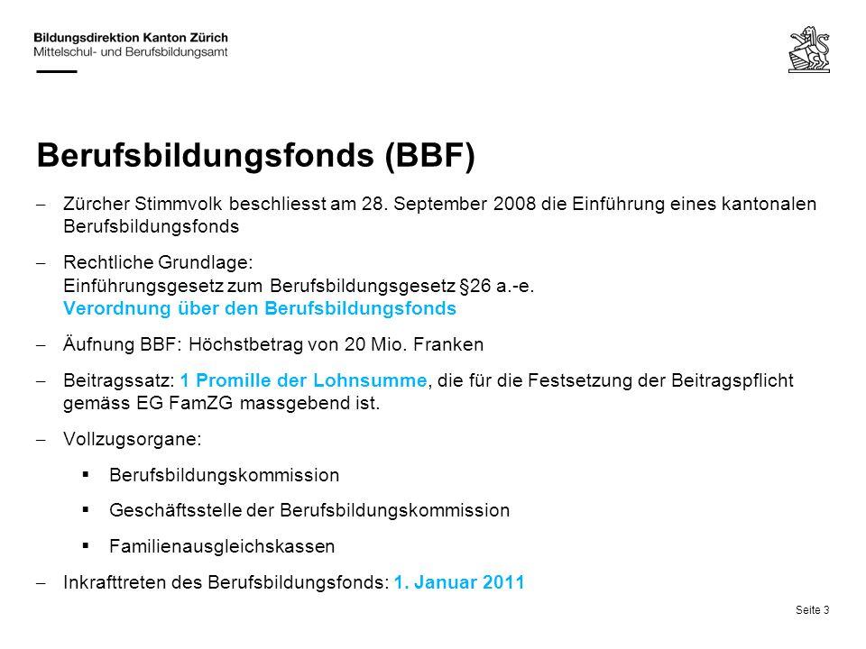 Berufsbildungsfonds (BBF)