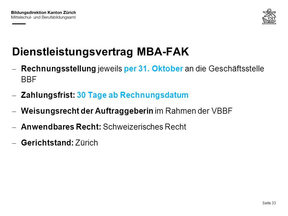 Dienstleistungsvertrag MBA-FAK
