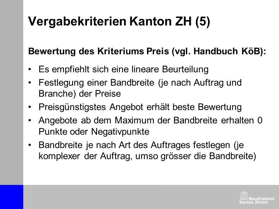 Vergabekriterien Kanton ZH (5)