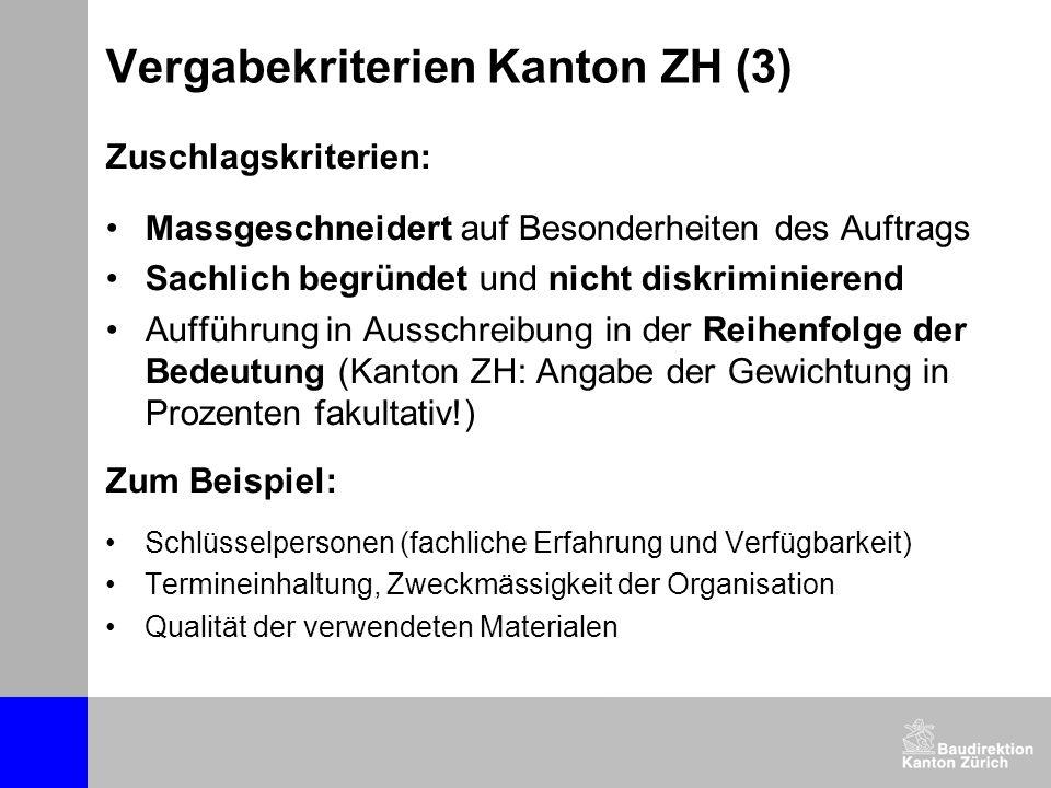 Vergabekriterien Kanton ZH (3)