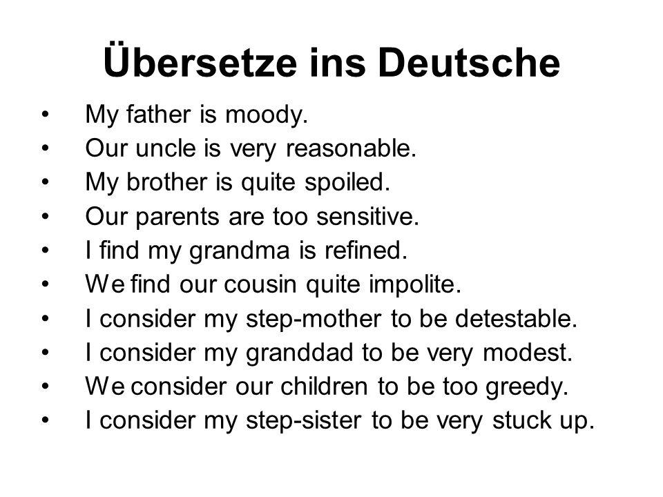 Übersetze ins Deutsche