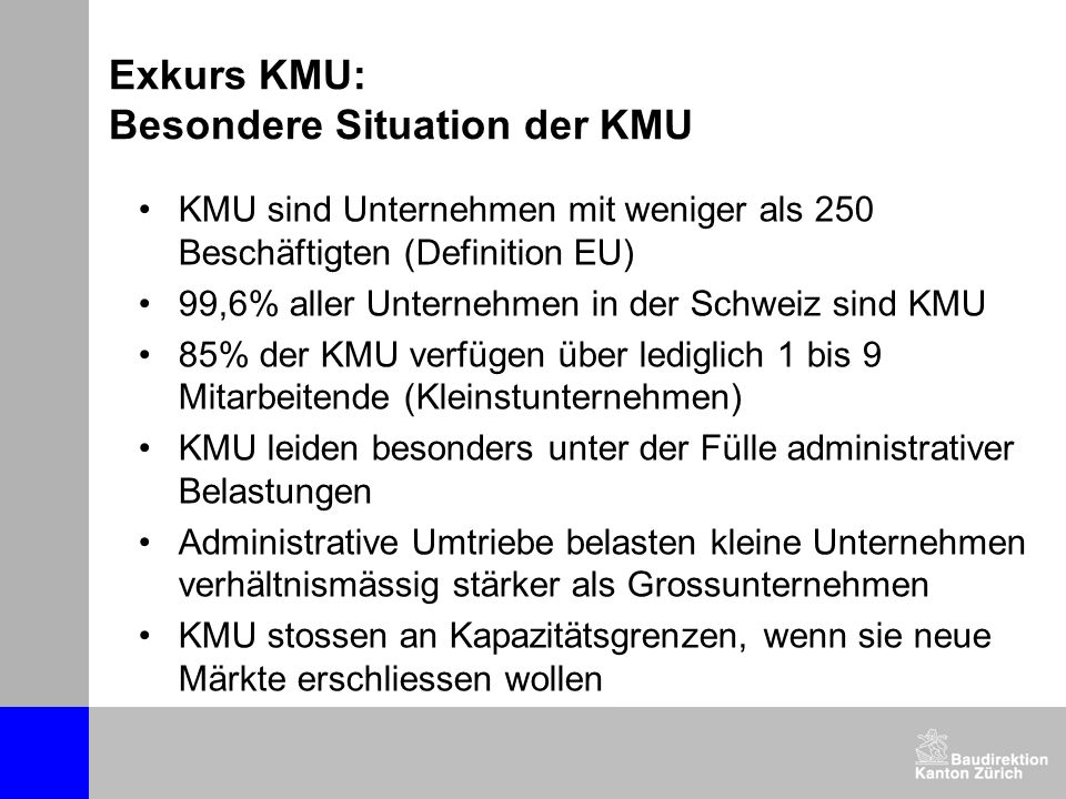 Exkurs KMU: Besondere Situation der KMU