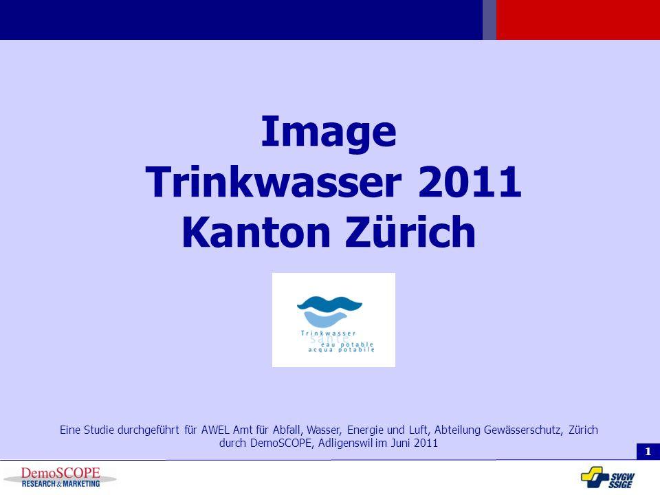 Eine Studie durchgeführt für AWEL Amt für Abfall, Wasser, Energie und Luft, Abteilung Gewässerschutz, Zürich durch DemoSCOPE, Adligenswil im Juni 2011