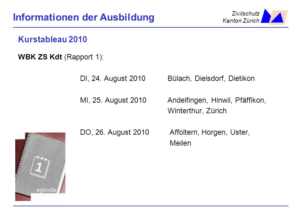 Kurstableau 2010 WBK ZS Kdt (Rapport 1):