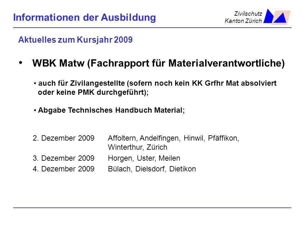 Aktuelles zum Kursjahr 2009