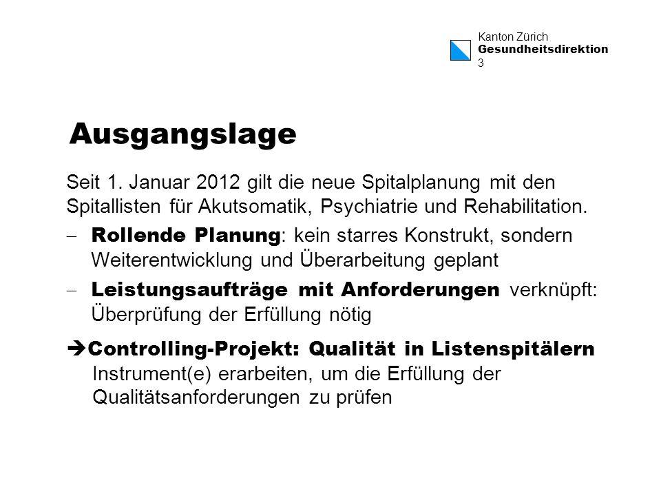Ausgangslage Seit 1. Januar 2012 gilt die neue Spitalplanung mit den Spitallisten für Akutsomatik, Psychiatrie und Rehabilitation.